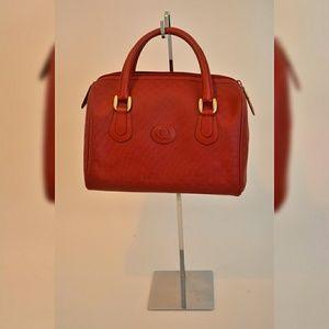 RARE AUTHENTIC VINTAGE Red Gucci Boston Bag